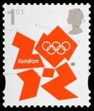 Selo de porte postal dos Jogos Olímpicos de Londres 2012 Imagens de Stock