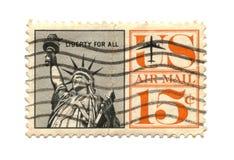 Selo de porte postal velho da liberdade dos EUA fotos de stock royalty free