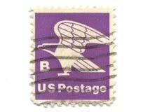 Selo de porte postal velho de EUA B Imagem de Stock