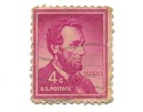 Selo de porte postal velho do centavo dos EUA 4 Foto de Stock