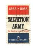 Selo de porte postal velho do centavo dos EUA cinco Fotografia de Stock Royalty Free