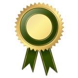 Selo de qualidade do molde - verde Fotos de Stock Royalty Free