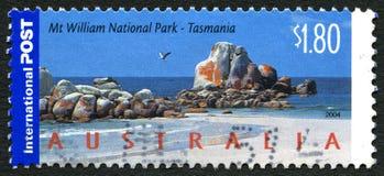 Selo de William National Park Australian Postage da montagem fotografia de stock