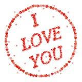 Selo do amor EU TE AMO Imagem de Stock Royalty Free