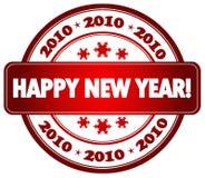 Selo do ano novo feliz Fotos de Stock Royalty Free