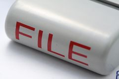 Selo do arquivo imagem de stock