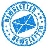 Selo do boletim de notícias Imagens de Stock