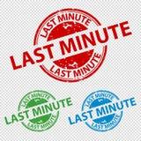 Selo do carimbo de borracha último minuto - ilustração colorida do vetor ilustração stock