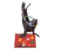 Selo do circo no fundo branco Imagens de Stock Royalty Free