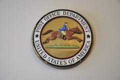Selo do departamento da estação de correios de Philadelphfia em Pensilvânia EUA Fotografia de Stock Royalty Free