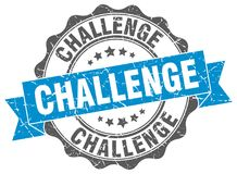 Selo do desafio ilustração royalty free