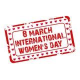 Selo do dia das mulheres Fotografia de Stock