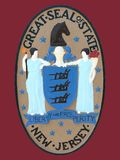 Selo do estado de New-jersey Imagens de Stock Royalty Free