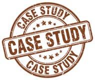 Selo do estudo de caso ilustração do vetor