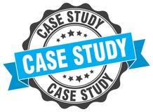 Selo do estudo de caso ilustração royalty free