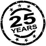 selo do grunge por 25 anos de jubileu ilustração do vetor