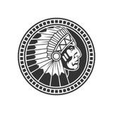 Selo do indiano americano Ilustração do vetor ilustração stock