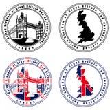 Selo do inglês ilustração royalty free