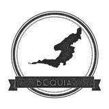 Selo do mapa de Bequia Imagens de Stock Royalty Free
