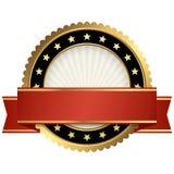 selo do molde com bandeira Fotografia de Stock Royalty Free