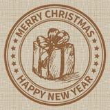 Selo do Natal Imagens de Stock