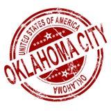 Selo do Oklahoma City com fundo branco Fotos de Stock