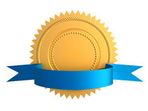Selo do ouro Imagens de Stock