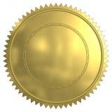 Selo do ouro ilustração stock