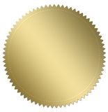 Selo do ouro Imagem de Stock Royalty Free