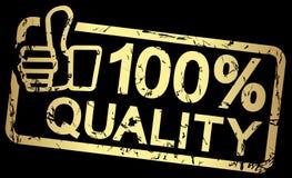 selo do ouro com qualidade 100% do texto Foto de Stock Royalty Free
