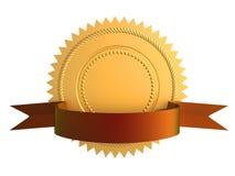 Selo do ouro da garantia Fotos de Stock Royalty Free