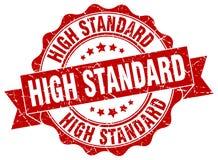 Selo do padrão elevado ilustração stock