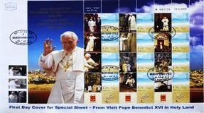 Selo do papa Benedict XVI na Terra Santa foto de stock
