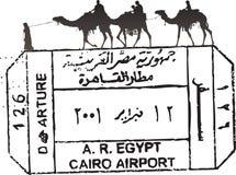 Selo do passaporte de Egipto ilustração royalty free