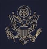 Selo do passaporte dos E.U. Fotos de Stock