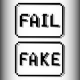 Selo do pixel da falha e da falsificação ilustração royalty free