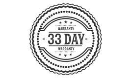 selo do projeto da ilustração da garantia de 33 dias imagem de stock royalty free