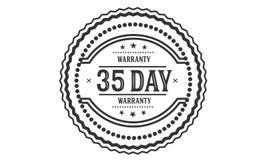 selo do projeto da ilustração da garantia de 35 dias fotos de stock royalty free