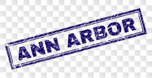 Selo do retângulo de ANN ARBOR do Grunge ilustração do vetor