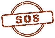 Selo do SOS ilustração do vetor
