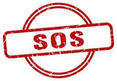 Selo do SOS ilustração stock