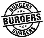 Selo dos hamburgueres ilustração do vetor