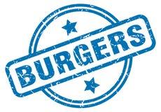 Selo dos hamburgueres ilustração royalty free