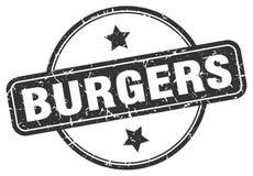 Selo dos hamburgueres ilustração stock