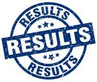 Selo dos resultados ilustração royalty free