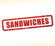 Selo dos sanduíches no fundo branco ilustração do vetor