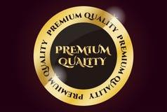Selo dourado da qualidade superior Fotografia de Stock
