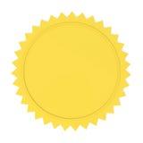 Selo dourado em branco Fotos de Stock