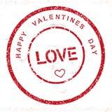 Selo feliz do dia de Valentim do Grunge ilustração royalty free