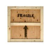 Selo frágil da caixa de madeira imagem de stock
